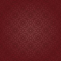Polygonal Elegant Motifs (Claret Red)
