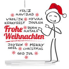 Frohe Weihnachten multilingual