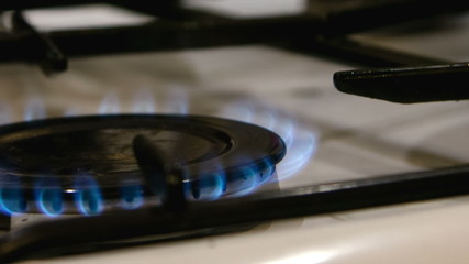 ignited gas burner hob