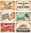 Collection of vintage vector bakery signs - 72777109