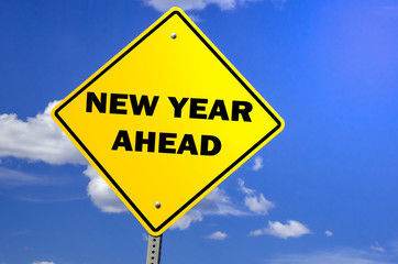 New Year Ahead Sign