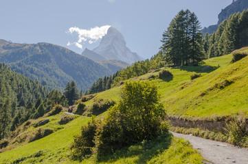 Zermatt, Bergdorf, Walliser Alpen, Wanderweg, Zmutt, Schweiz