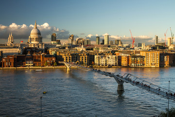 View on St Paul's and the City, London, UK