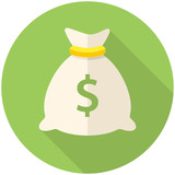 Money bag icon poster