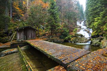 Wasserfall Rießloch im Herbst