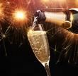 Obrazy na płótnie, fototapety, zdjęcia, fotoobrazy drukowane : Champagne with sparklers