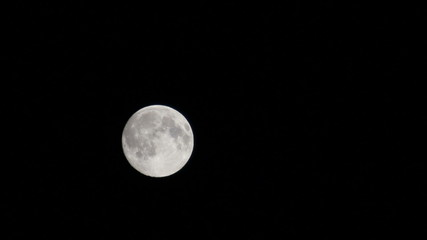 full moon moving on night sky