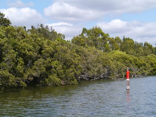 The fairway of the Parramatta River in Sydney
