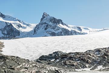 Kleines Matterhorn mit Theodulgletscher, ob Zermatt