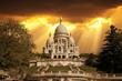Basilica of Sacre Coeur in Paris France.