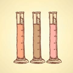 Sketch beaker in vintage style