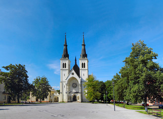 Church of Ostrava-Privoz, Svatopluk Cech Square, Czech republic