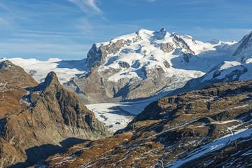 Monte Rosamassiv mit Dufourspitze, ob Zermatt