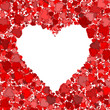 canvas print picture - Red heart frame