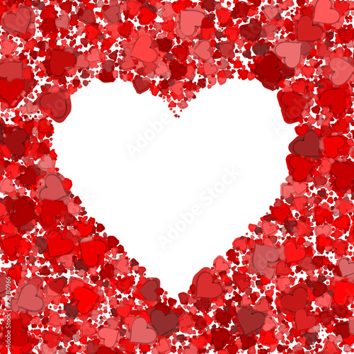 canvas print picture Red heart frame