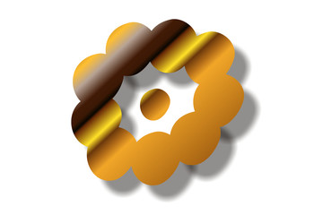 golden punktierter Kreisform...