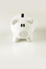 White Piggy Coin Bank