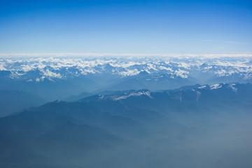 Himalayas bird's eye view