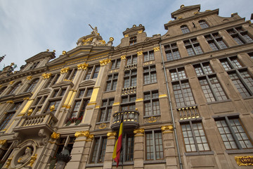 Ornate buildings of Grand Place, Brussels