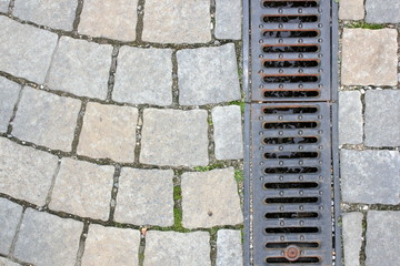 drainage on pedestrian street