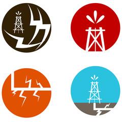 Fracking Oil Icons