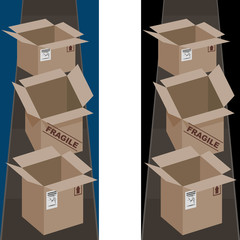 Shipping Boxes Vertical Banner