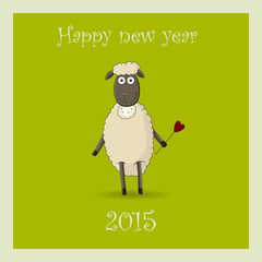 New Year's card 2015 with the ram