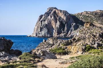 Rugged coast at Falasarna
