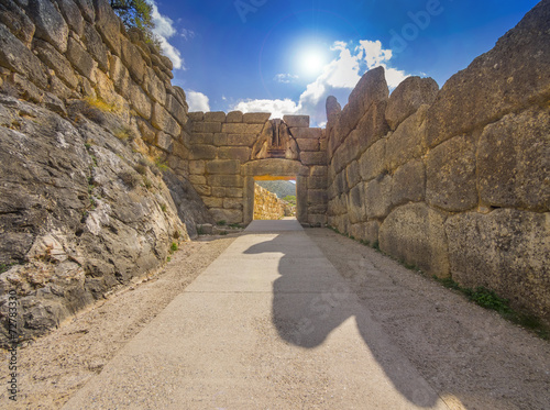 Foto op Canvas Athene Lion Gate at Mycenae, Greece