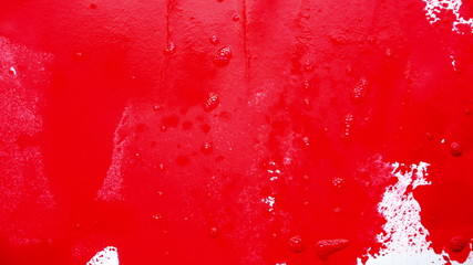 Red paint smear and mix 4K UHD 2160p footage
