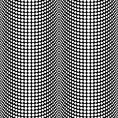 Abstract Halftone Black and White Vector Seamless Pattern Backgr