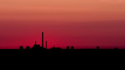 City. Sunrise. Time Lapse.