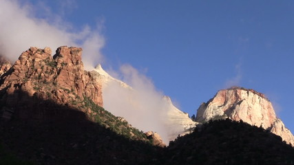 Dawn at Towers of the Virgin Zion N.P.
