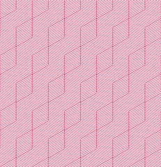 A pink seamless pattern background with a cubic style