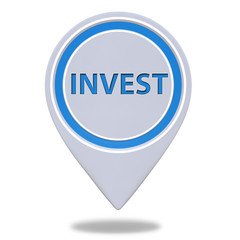 Invest pointer icon on white background