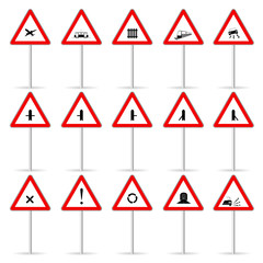 road sign color vector