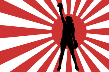 Vector image of the Japanese flag.