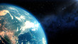 Leinwanddruck Bild - Realistic Earth closeup render