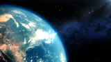 Realistic Earth closeup render - 72787992