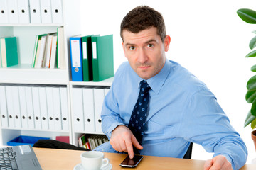 businessman is using smartphone