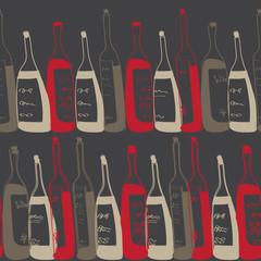 seamless wine bottles pattern