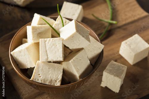 Foto op Canvas Groenten Organic Raw Soy Tofu