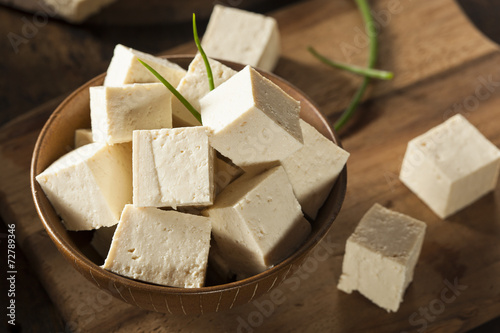 Spoed canvasdoek 2cm dik Groenten Organic Raw Soy Tofu