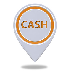 Cash pointer icon on white background