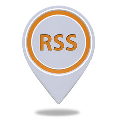 RSS pointer icon on white background