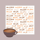 karte kaffee international grau poster