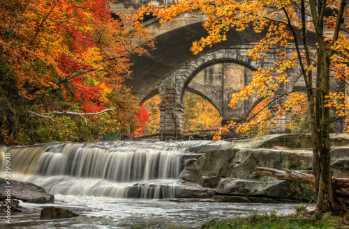 Tuinposter Watervallen Beautiful Berea Falls In Autumn