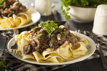 Homemade Hearty Beef Stroganoff