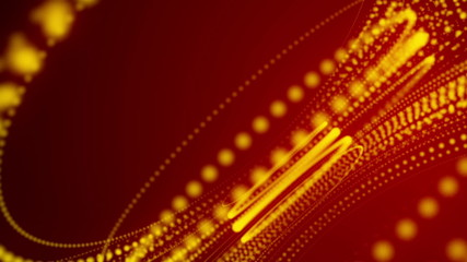 gold spiral, abstract, red background, loop