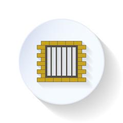 Jail flat icon